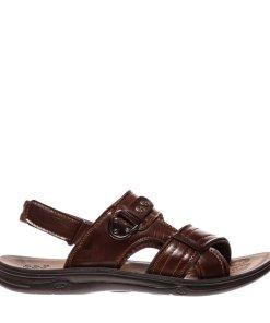 Sandale barbati Carol negru cu maro