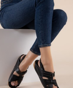 Sandale piele naturala Vienna Negre