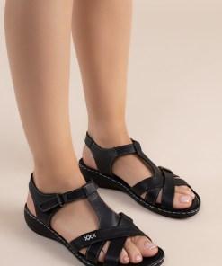 Sandale piele naturala Sonya Negre
