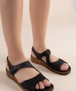Sandale piele naturala Arabica Negre