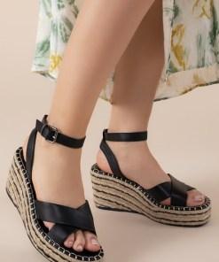 Sandale cu platforma Sheilla Negre