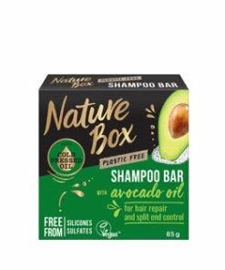Sampon solid cu ulei de avocado 100% presat la rece Nature Box, 85 g