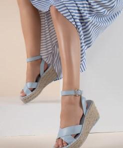 Sandale cu platforma Sheilla Albastre