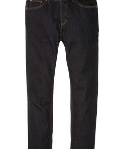 Blugi Classic Fit cu bată elastică pe părți, straight - negru