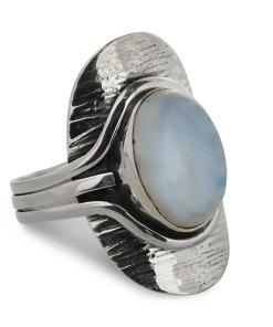Inel argint vintage Tiy cu piatra lunii, marime 61