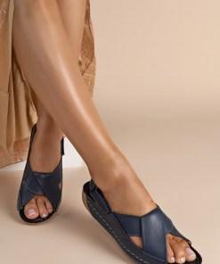 Sandale piele naturala Otniela Navy