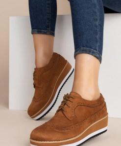 Pantofi Oxford Lisha Camel