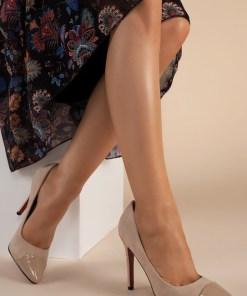 Pantofi stiletto Delusion V2 Bej
