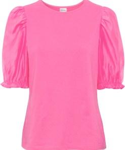 Bluză din bumbac bio - roz