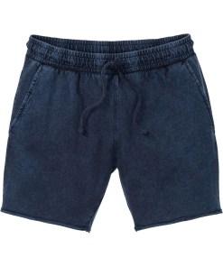 Pantaloni scurţi sweat cu aspect prespălat, Regular Fit - albastru