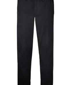 Pantaloni chino stretch Slim Fit cu aspect lucios, Straight - negru