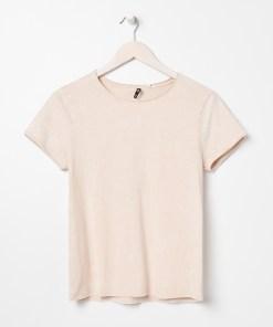 Sinsay - Tricou cu efect prespălat - Bej