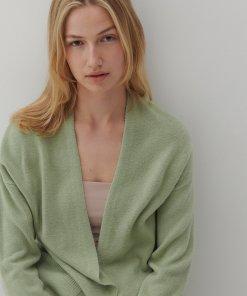 Reserved - Cardigan monocromatic - Verde