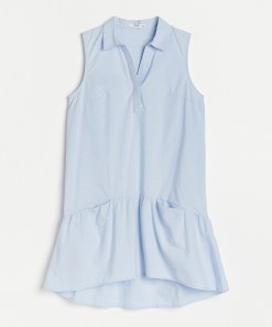 Reserved - Rochie-cămașă - Albastru