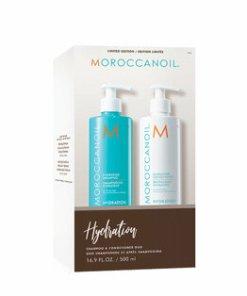 Set Moroccanoil Duo Hydration (Sampon de par, 500 ml + Balsam de par, 500 ml)