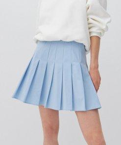 Reserved - Fustă mini trapez - Albastru