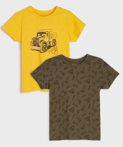 Sinsay - Set de 2 tricouri - Galben