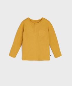Sinsay - Tricou cu mânecă lungă - Galben