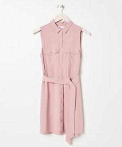 Sinsay - Rochie-cămașă cu cordon - Roz