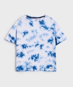 Sinsay - Tricou cu efect tie-dye - Multicolor