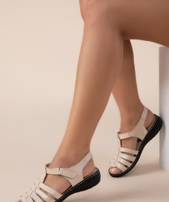 Sandale piele naturala Richelle Bej