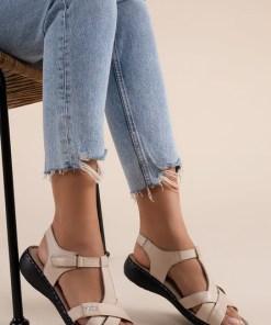 Sandale piele naturala Sonya Bej