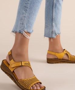 Sandale piele naturala Arabica Galbene