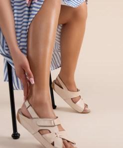 Sandale piele naturala Vienna Bej