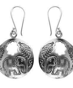 Cercei argint Kunta cu elefant
