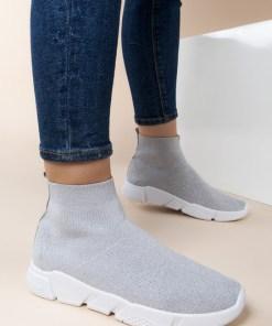 Sneakers High-Top Grazia Argintii