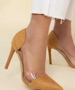 Pantofi stiletto Geraldine V1 Galbeni