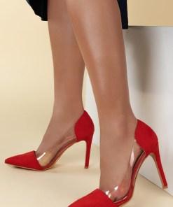 Pantofi stiletto Geraldine V1 Rosii