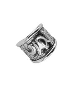 Inel argint reglabil Ahonya, lucrat manual, Indonezia