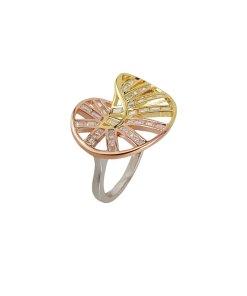 Inel din argint golden winding, marime 54