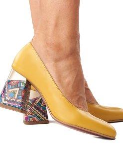Pantofi stiletto eleganti din piele naturala 4285