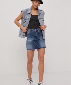 Tommy Jeans - Fusta jeans PPY8-SDD09D_55J