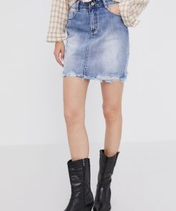 Answear Lab - Fusta jeans BBY8-SDD02U_55X