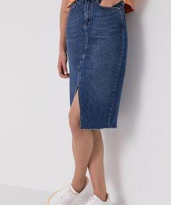 Answear Lab - Fusta jeans BMY8-SDD00F_55X