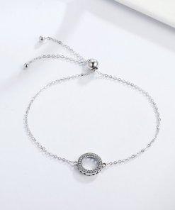 Bratara din argint Glittering Round Circle