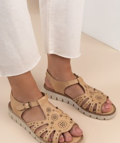 Sandale piele naturala Isadora Bej