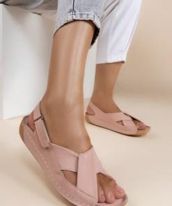 Sandale piele naturala Otniela Roz