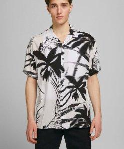 Camasa cu maneci scurte si imprimeu tropical Coco 3710214
