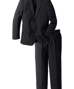 Costum (2piese): sacou şi pantaloni - negru