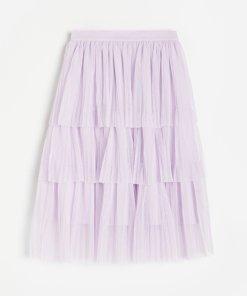 Reserved - Fustă plisată - Violet