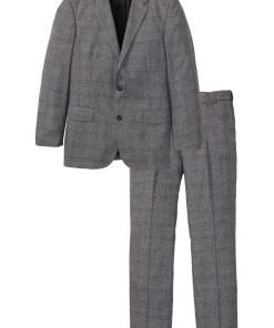 Costum (2piese): sacou şi pantaloni - gri