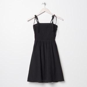 Sinsay - Rochie mini cu bretele subțiri - Negru