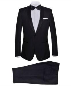 vidaXL Frac/ Costum de seară bărbătesc 2 piese mărimea 46 negru