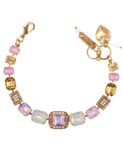 Bratara placata cu Aur roz de 24K, cu cristale Swarovski, Tiara Day   4040/7-2333RG