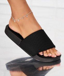 Papuci/Slapi Textil Negri Brianna X5290