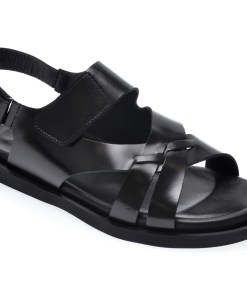 Sandale OTTER negre, 104, din piele naturala